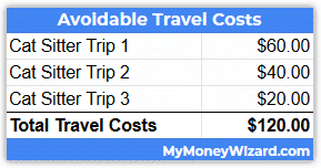 adopted cat travel costs