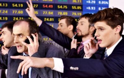 crazy market trading floor